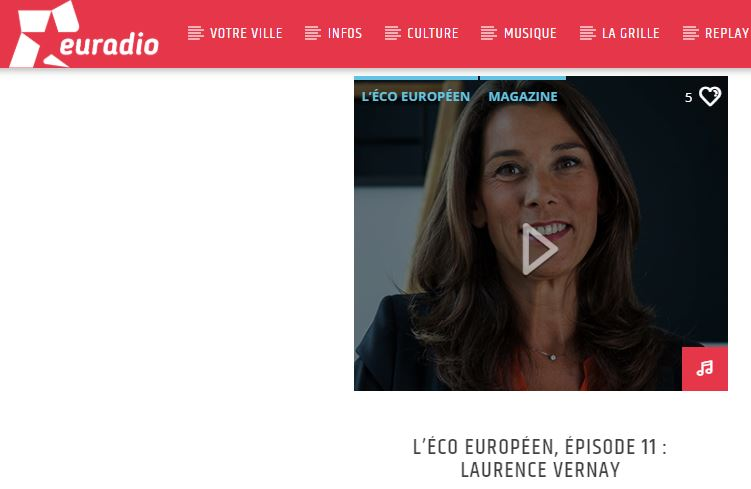 Interview Laurence Vernay sur Euradio